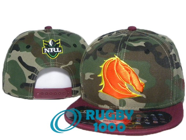 NRL casquettes brisbane broncos camouflage rouge