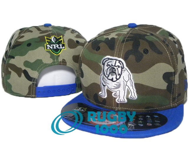 NRL casquettes canterbury bankstown bulldogs camouflage bleu fonce