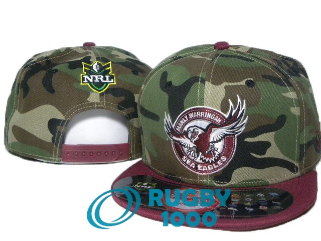 NRL casquettes manly sea eagles camouflage rouge