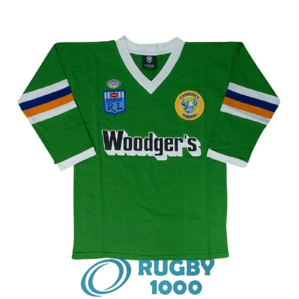 maillot rugby canberra raiders manche longue rerto 1989