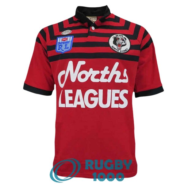 maillot rugby north sydney bears rerto 1991