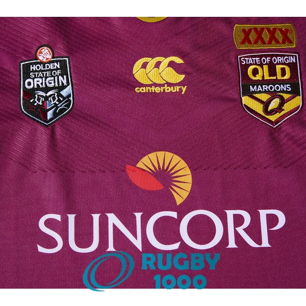 maillot rugby queensland maroons domicile 2016