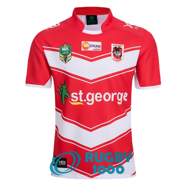 maillot rugby st george illawarra dragons exterieur 2018-2019