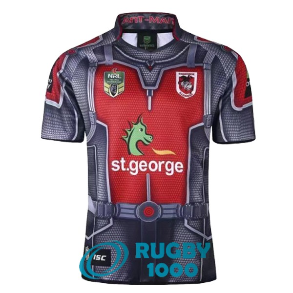 maillot rugby st george illawarra dragons heros 2017-2018