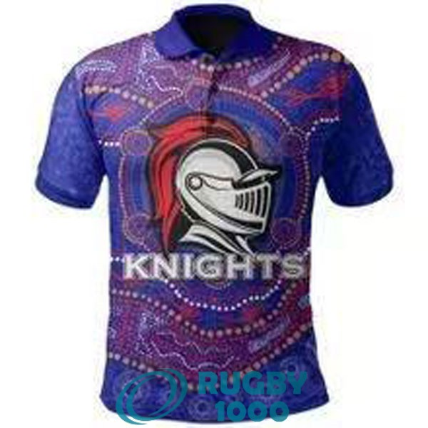 polo rugby newcastle knights bleu violet 2021